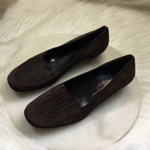 Salvatore Ferragamo brown Suede shoes size 9